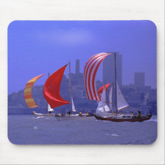 Sailboats - Racing - Classic Pearson Vanguards Mouse Pad