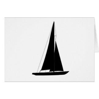 Sailboats - Racing sailboats - Colombia 5.5 Meter Greeting Card