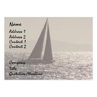 Sailboats Sailing Ocean Harbor Sea Marina Pack Of Chubby Business Cards