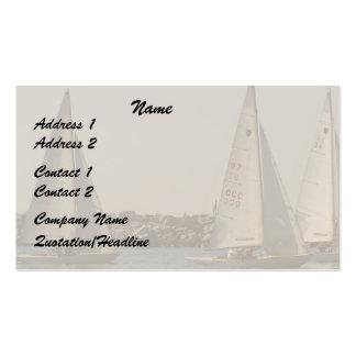Sailboats Sailing Ocean Harbor Sea Marina Pack Of Standard Business Cards