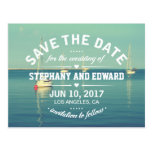 Sailboats Summer Save the Date Postcard Wording