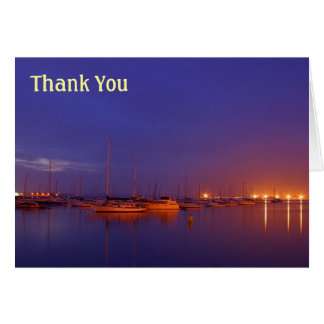 sailboats Thank You Note Card