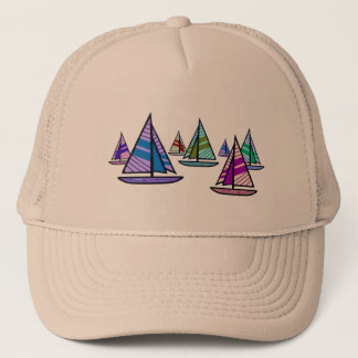 Sailboats Trucker Hat