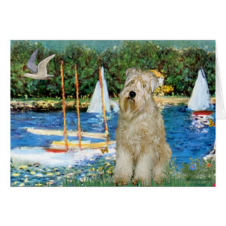 Sailboats -Wheaten Terrier 1 Card