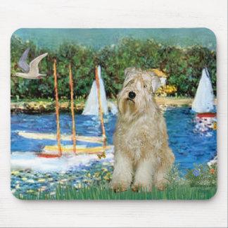 Sailboats -Wheaten Terrier 1 Mouse Mat