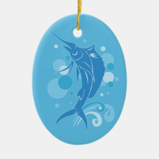 Sailfish Ceramic Oval Decoration