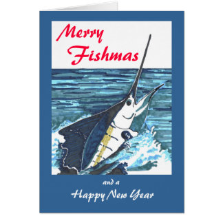 Sailfish Christmas Greeting Card