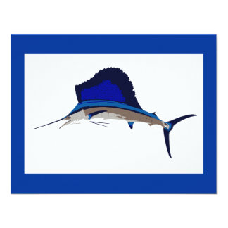 Sailfish fishing graphic card