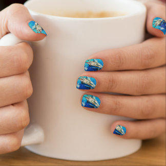 Sailfish Nails Minx Nail Art