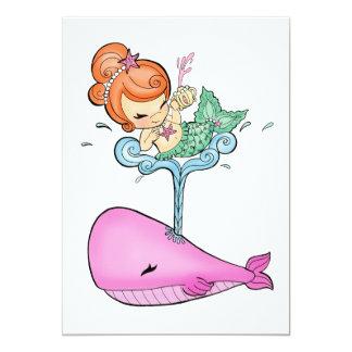 "Sailin With a Whale Invites 5"" X 7"" Invitation Card"