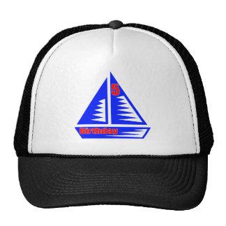 Sailing 5th Birthday Gifts Cap