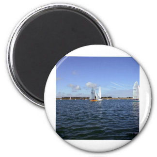 Sailing 6 Cm Round Magnet