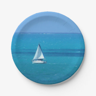 Sailing 7 Inch Paper Plate