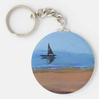 Sailing a Gentle Breeze - Ships of the Imagination Key Ring