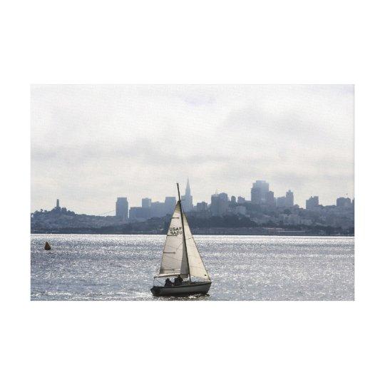 Sailing along the San Francisco Skyline Canvas Print