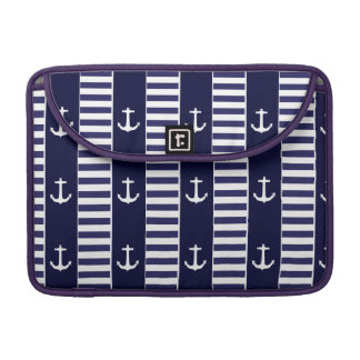 Sailing anchor and stripes pattern sleeve for MacBook pro