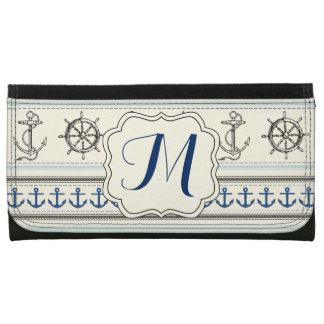 Sailing Anchor Nautical Monogram Initial Wallet
