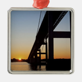 Sailing and leaving Newport Rhode Island Christmas Ornament