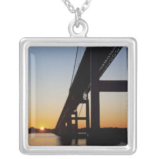 Sailing and leaving Newport Rhode Island Silver Plated Necklace