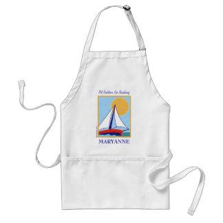 Sailing. Adult Apron