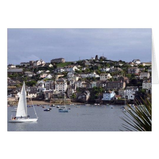 Sailing at Fowey Greeting Card