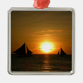 Sailing at Sunset Christmas Ornament