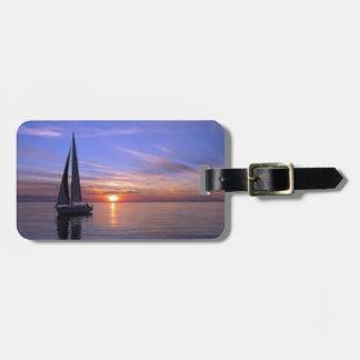 Sailing at Sunset Luggage Tag