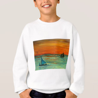 Sailing at sunset sweatshirt