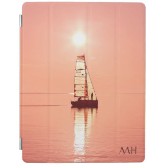 Sailing Away custom monogram device covers iPad Cover