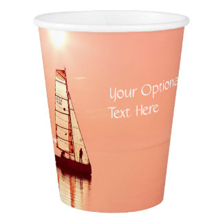 Sailing Away custom paper cups