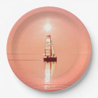 Sailing Away paper plates