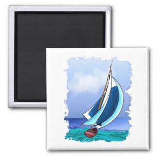 Sailing Away Square Magnet