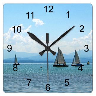 Sailing Away Square Wall Clock