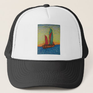 sailing away trucker hat