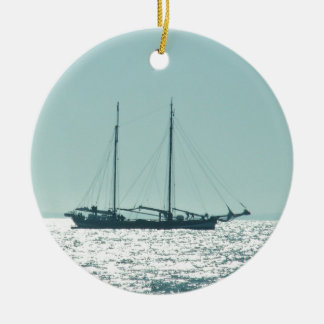 Sailing Barge In The Sun Christmas Ornament