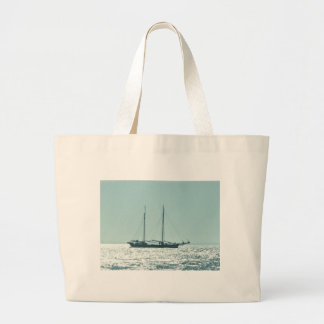 Sailing Barge In The Sun Large Tote Bag