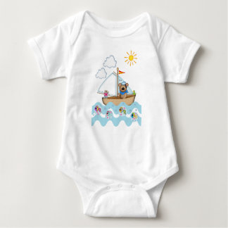 Sailing Bear and his little cat Tee