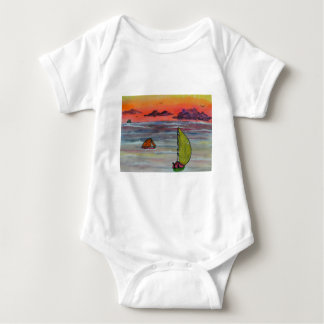 Sailing before the storm baby bodysuit