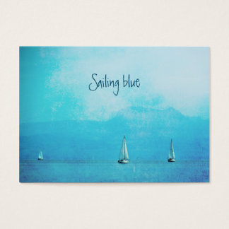sailing blue business card