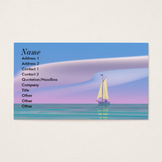 Sailing Blue - Business Size Business Card