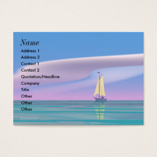 Sailing Blue - Chubby Business Card
