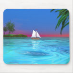 Sailing Blue Mouse Pad