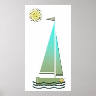 Sailing Boat Art Poster