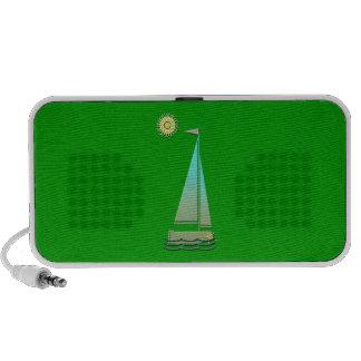 Sailing Boat Art Travelling Speakers