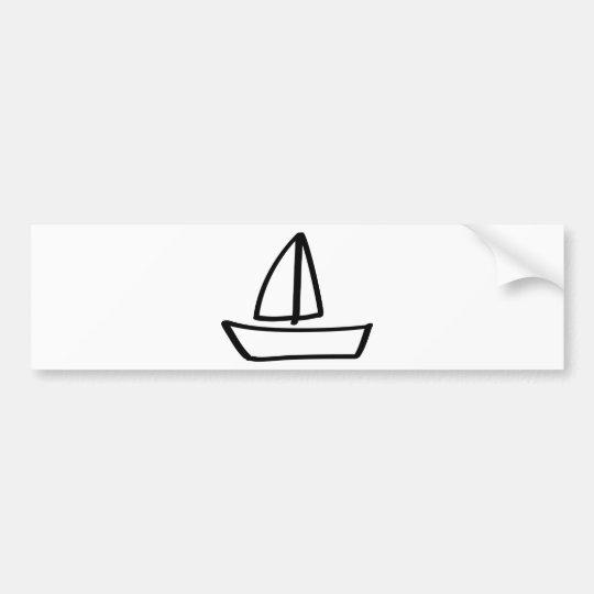 sailing boat bumper sticker