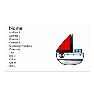 sailing boat business card