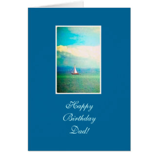 Sailing boat - dad's birthday greeting card