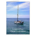 Sailing Boat Happy Birthday Card