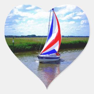 Sailing Boat.JPG Heart Sticker