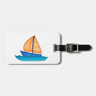 Sailing Boat Luggage Tag